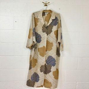 Vintage Kimono Geo-print Dress
